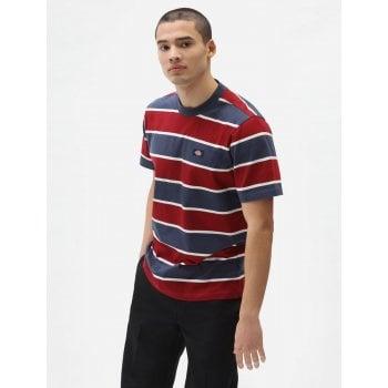 Dickies Short Sleeve Oakhaven T Shirt Navy Blue