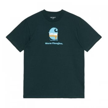 Carhartt Wip short sleeved Warm Thoughts T Shirt in Frasier green