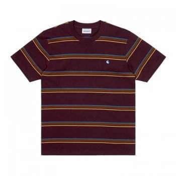 Carhartt Wip short sleeved Kent T Shirt in Wine