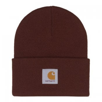 Carhartt Wip Acrylic Watch Hat in Off Road brown