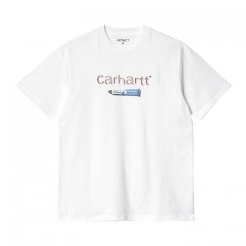 Carhartt Wip short sleeved Toothpaste T Shirt in White