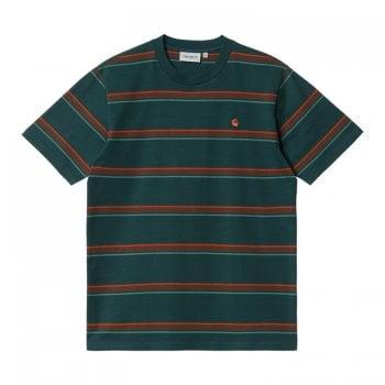 Carhartt Wip short sleeved Kent T Shirt in Frasier green