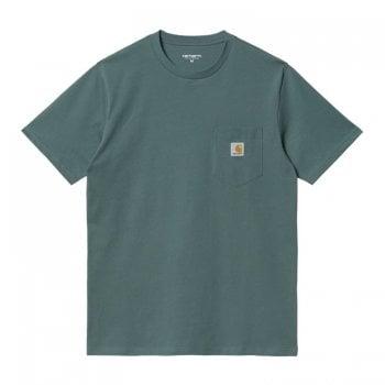 Carhartt Wip short sleeved Pocket T-shirt in Eucalyptus green