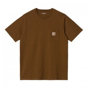 Carhartt Wip short sleeved Pocket T-shirt Tawny brown