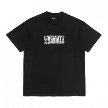 Carhartt Wip short sleeved Removals T Shirt in Black with white graphic print