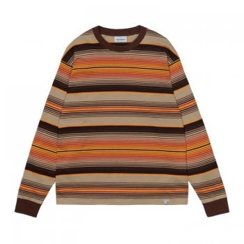 Carhartt Wip long sleeved Tuscon T Shirt in Off Road brown