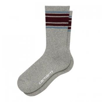 Carhartt Wip Mesa Socks in Grey Heather/skydive/jam