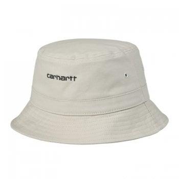 Carhartt Wip Script Bucket Hat in Hammer with black embroidered Carhartt Script logo