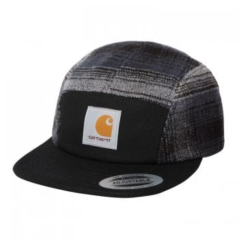 Carhartt Wip Highland Cap in Black with highland Check panels