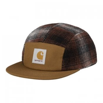 Carhartt Wip Highland Cap in Hamilton brown with Highland Check panels