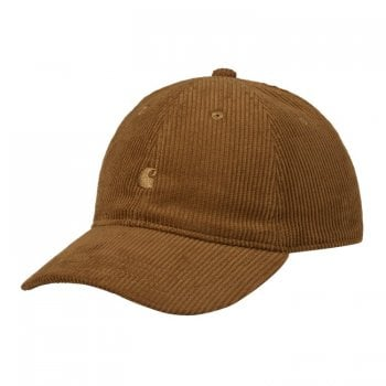 Carhartt Wip Harlem Cap in Tawny brown with tawny brown coloured embroidered Carhartt C Logo