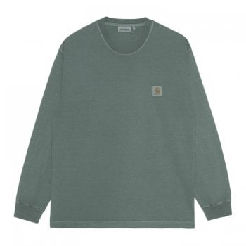Carhartt Wip Long Sleeved Vista T Shirt in Eucalyptus Green