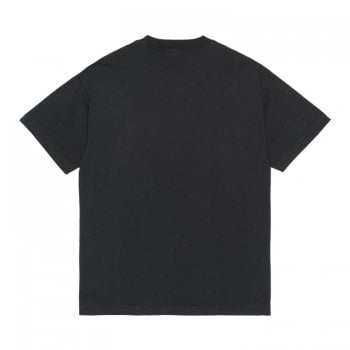 Carhartt Wip Short Sleeved Vista T shirt in Soot (washed black)