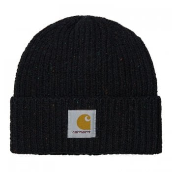 Carhartt Wip Anglistic Beanie in Speckled Black