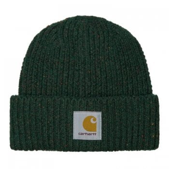 Carhartt Wip Anglistic Beanie in Speckled Grove Green