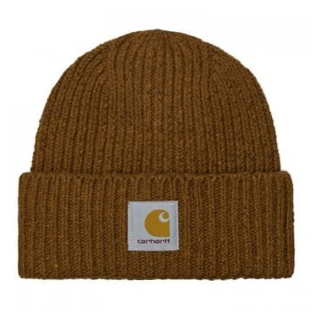 Carhartt Wip Anglistic Beanie in Speckled Tawny Brown