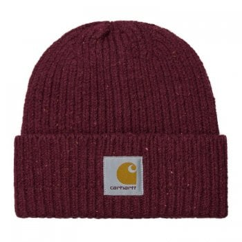 Carhartt Wip Anglistic Beanie in Speckled Wine