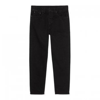 Carhartt Wip Newel Pant in Black One Wash organic 13.5 oz Maitland denim