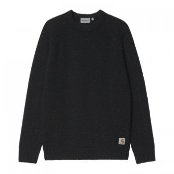Carhartt Wip Anglistic Sweater in Speckled Black Heather
