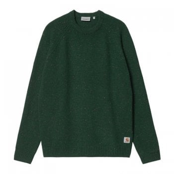 Carhartt Wip Anglistic Sweater in Speckled Grove Green