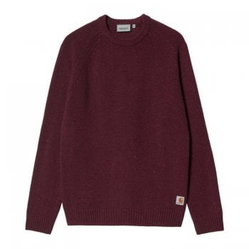 Carhartt Wip Anglistic Sweater in Speckled Wine