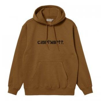 Carhartt Wip Hooded Carhartt Sweat in Hamilton Brown
