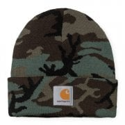 Carhartt Wip Camo Evergreen Beanie Camo Evergreen Rinsed