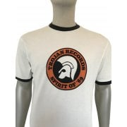 Ska And Soul Trojan Logo T Shirt Ecru/black