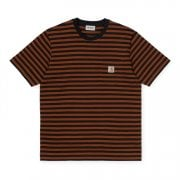 Carhartt Wip S/s Parker Pocket T Shirt in Black/brandy