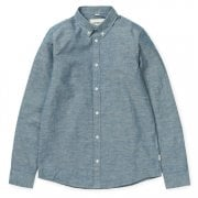 Carhartt Wip L/s Kyoto Shirt Blue Stone Washed