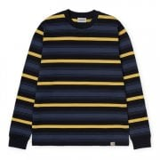 Carhartt Wip L/s Buren T Shirt in Dark Navy