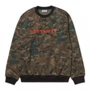 Carhartt Wip Carhartt Sweat Camo Combi/safety Orange