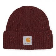Carhartt Wip Anglistic Beanie in Bordeaux Heather