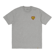 Carhartt Wip short sleeved Hartt Of Soul T Shirt in Grey Heather