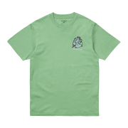Carhartt Wip short sleeved Ill World T Shirt in Mineral Green