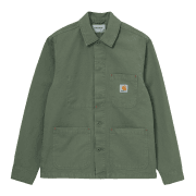 Carhartt Wip Wesley Jacket in Dollar Green 8.5 oz Newcomb drill cotton