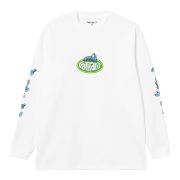 Carhartt Wip long sleeved Screw T Shirt in White
