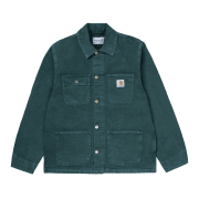 "Carhartt Wip Michigan Coat in Deep Lagoon ""Worn"" 12 oz Dearborn Organic cotton Canvas"