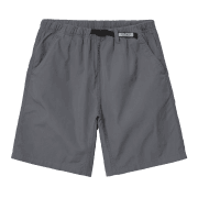 Carhartt Wip Clover Shorts in Shiver grey stone washed 6oz cotton poplin