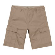 Carhartt Wip Aviation Short in Leather coloured Khaki 6.5 oz Columbia ripstop cotton