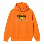 Carhartt Wip Hooded Runner Sweat in Hokkaido orange