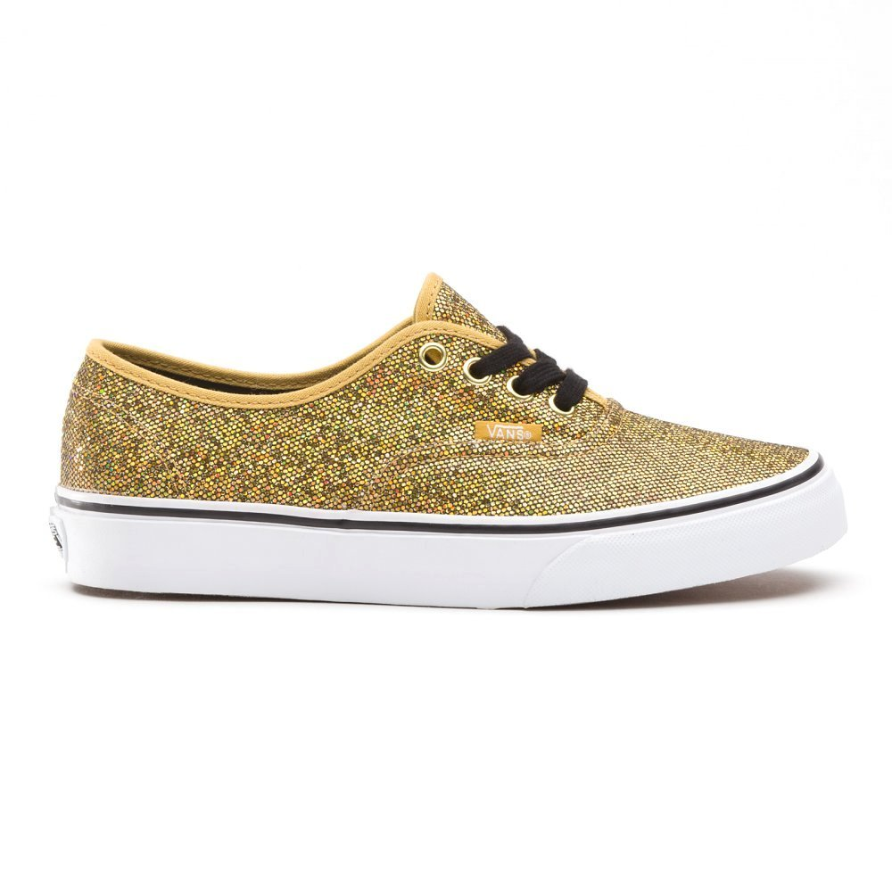 Vans Authentic Shoes in Gold Glitter