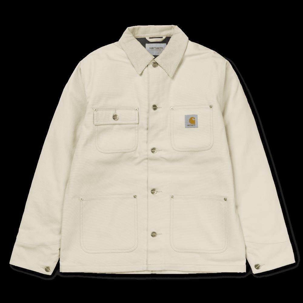 Carhartt Wip Michigan Chore Coat Oats Cotton Canvas 12 oz Jacket White